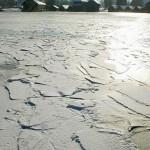 Eisschollen am See